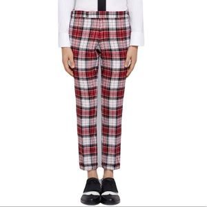 THOM BROWNE AUTHENTIC CHECK SKINNY WOOL TROUSER